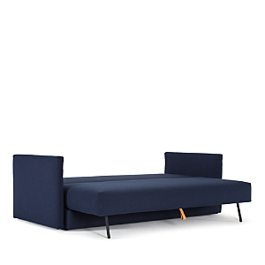 This exclusive sofa from Innovation combines function and flair with sleek, contemporary lines that covert to a comfortable queen-sized bed.