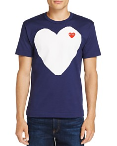 Comme Des Garcons PLAY White Heart Crewneck Short Sleeve Tee - Bloomingdale's_0