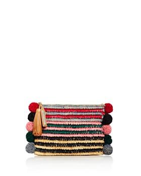 Loeffler Randall - Multicolor Tassel Raffia Pouch