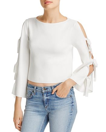 MILLY - Tied Together Cropped Top