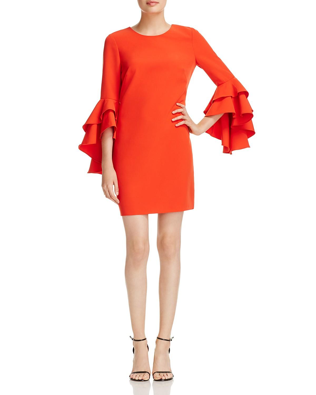 MILLY June Ruffle-Sleeve Shift Dress | Bloomingdale\'s