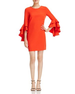 Milly June Ruffle-Sleeve Shift Dress