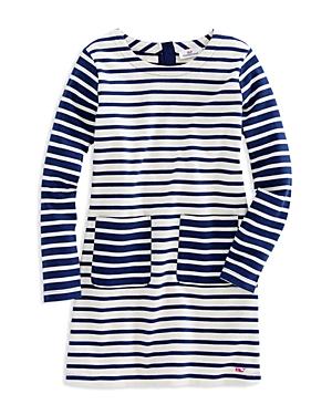 Vineyard Vines Girls Mixed Stripes Shift Dress  Big Kid