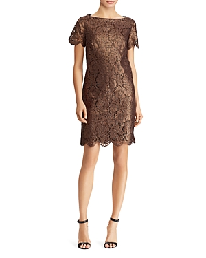 Lauren Ralph Lauren Short-Sleeve Lace Dress
