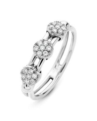 HULCHI BELLUNI 18K WHITE GOLD TRESORE DIAMOND RING