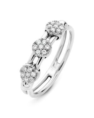 Hulchi Belluni 18K White Gold Tresore Diamond Ring