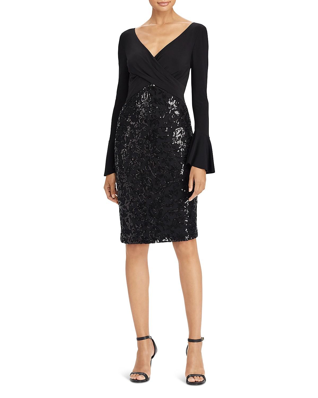 Lauren Ralph Lauren Sequin Bell-Sleeve Dress | Bloomingdale\'s