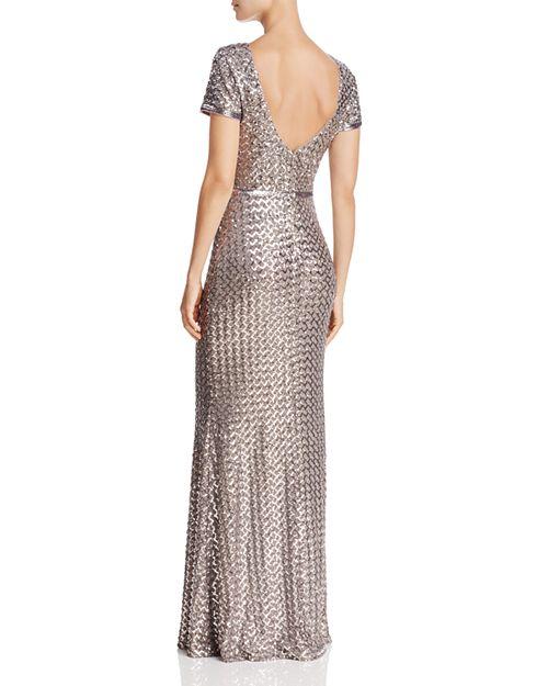 AQUA Belted Sequin Gown - 100% Exclusive | Bloomingdale\'s