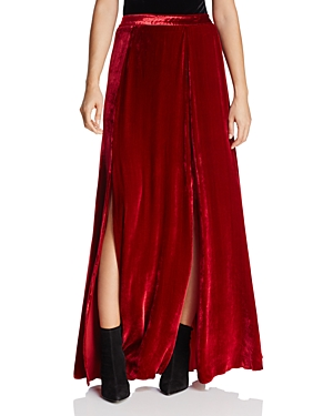 Alice + Olivia Athena Double-Slit Velvet Maxi Skirt at Bloomingdale's