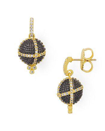 Freida Rothman - Textured Ornament Drop Earrings