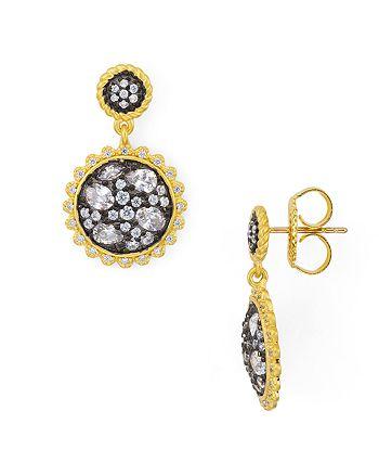 Freida Rothman - Gilded Cable Pebble Earrings