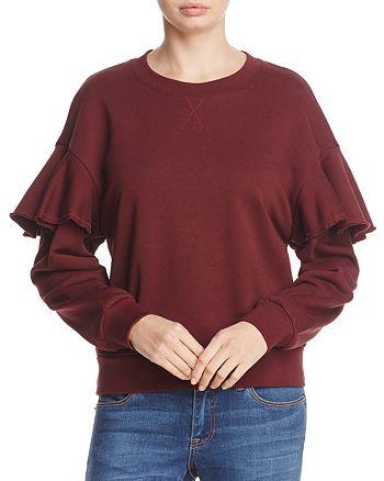 Burberry - Neiman Ruffle Drop Shoulder Sweatshirt