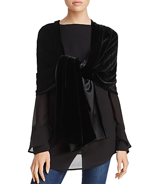 Eileen Fisher Velvet Wrap at Bloomingdale's