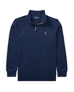 Ralph Lauren Childrenswear Boys' Quarter-Zip Sweater - Big Kid