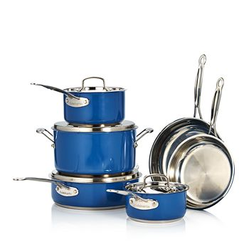 Cuisinart - Chefs Classic Stainless 10 Piece Cookware Set - 100% Exclusive