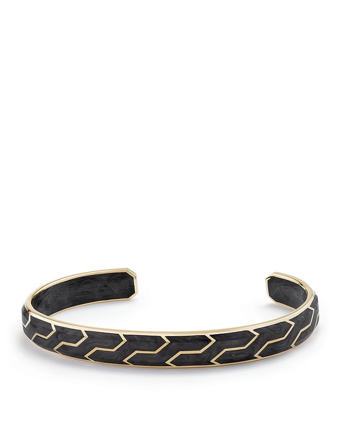 David Yurman - Forged Carbon Cuff with 18K Gold