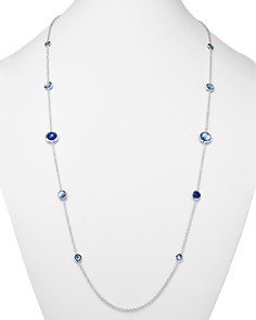"""IPPOLITA - Sterling Silver Rock Candy Mother-of-Pearl, Clear Quartz & Lapis Triplet Necklace, 37"""""""