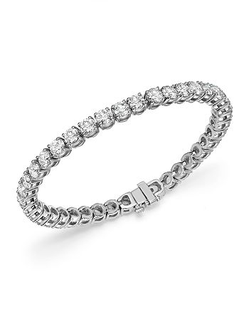 Bloomingdale's - Diamond Tennis Bracelet in 14K White Gold, 12.0 ct. t.w. - 100% Exclusive