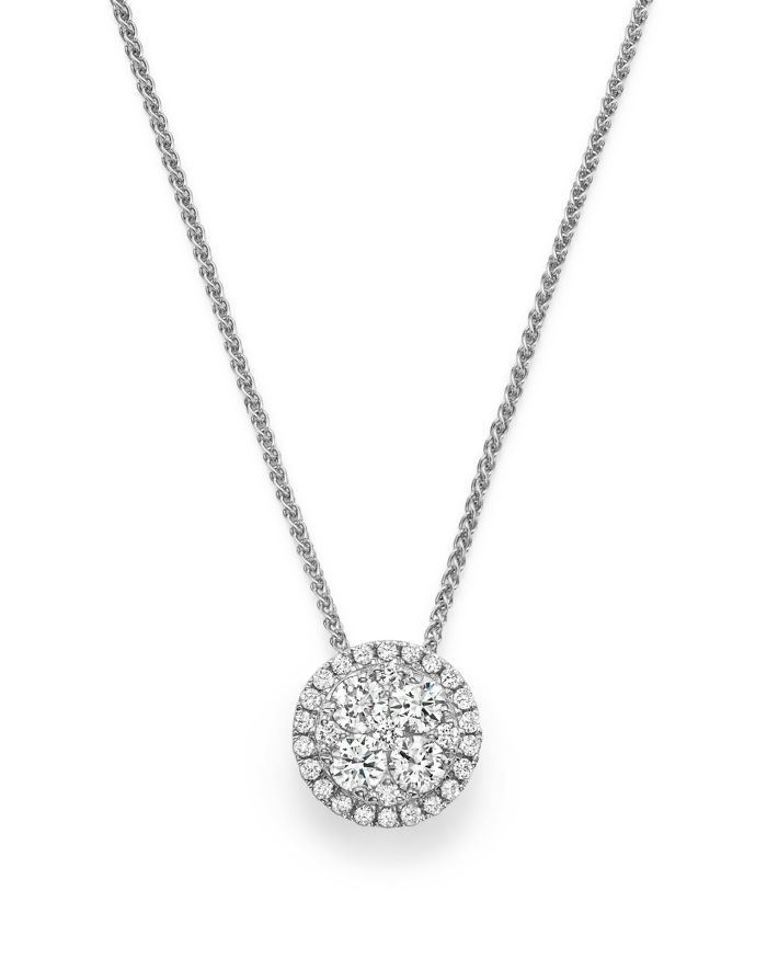 Bloomingdale's Diamond Cluster Round Pendant Necklace in 14K White Gold, .35 ct. t.w. - 100% Exclusive   | Bloomingdale's