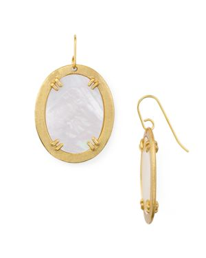Stephanie Kantis Life Oval Earrings
