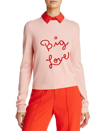 Alice and Olivia - Dia Layered-Look Cashmere Sweater