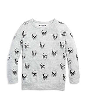 Aqua x Lauren Moshi Girls' Skull Sweatshirt, Big Kid - 100% Exclusive
