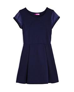 AQUA Girls' Textured Cap-Sleeve Dress, Big Kid - 100% Exclusive - Bloomingdale's_0