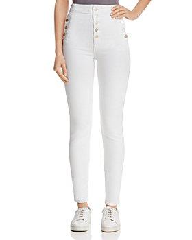 J Brand - Natasha Sky-High Skinny Jeans in Blanc