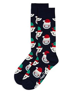 Happy Socks Smiling Santa Socks