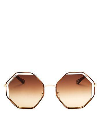 ee0106758c7 Chlo eacute  - Women s Poppy Geometric Octagonal Sunglasses