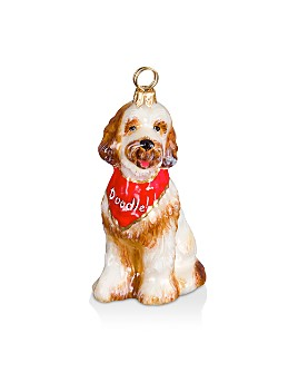 Joy to the World - Goldendoodle with Bandana Ornament