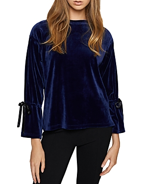 Sanctuary Terney Velour Bell Sleeve Sweatshirt
