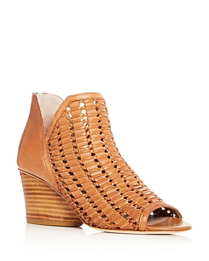 5181148f5de5 Donald J Pliner Women S Jacqi Woven Leather Wedge Heel Sandals In Fawn  Leather
