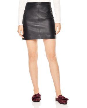 Sandro Diva Leather Mini Skirt