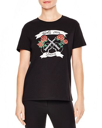 "Sandro - Cindy ""Girls Can Dream"" Graphic Tee"
