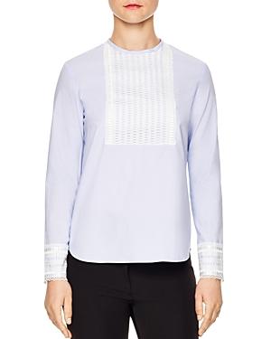 Sandro Apolline Lace-Trimmed Cotton Top