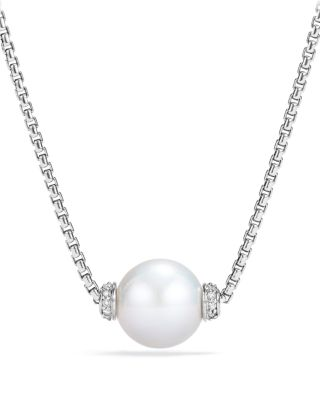 DAVID YURMAN Solari Pendant Necklace With Diamonds & Cultured Freshwater Pearl