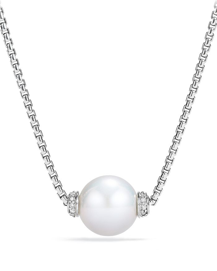 David Yurman - Solari Pendant Necklace with Diamonds & Cultured Freshwater Pearl