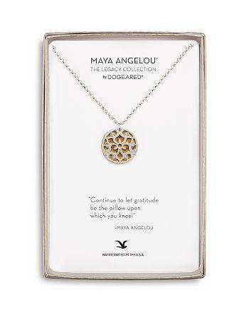 "Dogeared - Circle Pendant Necklace, 18"""