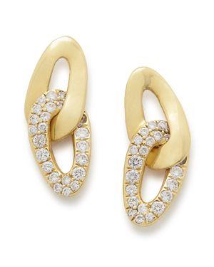 Ippolita 18K Yellow Gold Cherish Bond Diamond Stud Earrings