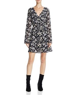 June & Hudson Floral Print Faux Wrap Dress