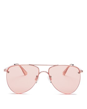 Le Specs - Women's The Prince Frameless Mirrored Aviator Sunglasses, 57mm - 100% Exclusive
