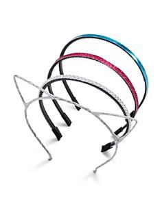 Capelli Girls' Cat Ears & Shimmer Headbands, Set of 4 - Bloomingdale's_0