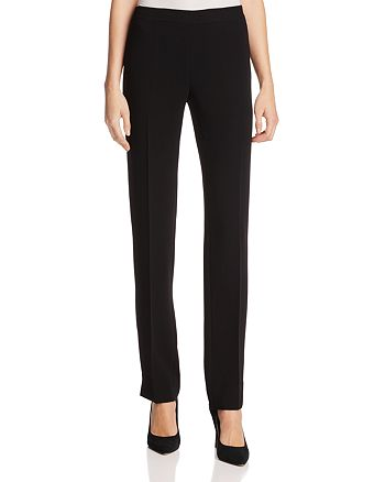 Lafayette 148 New York - Bleecker Silk Straight-Leg Pants