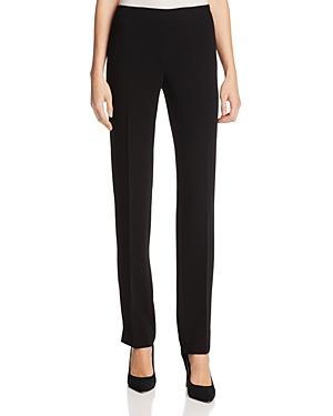 Lafayette 148 New York Bleecker Silk Straight-Leg Pants-Women