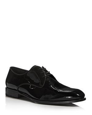 Salvatore Ferragamo Men's Patent Leather Derbys