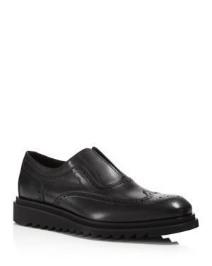 Salvatore Ferragamo Men's Wingtip Calfskin Loafers
