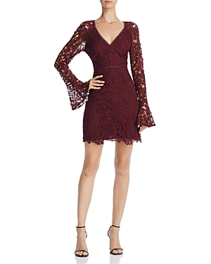 Astr Juliette Bell Sleeve Lace Dress
