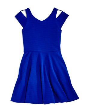 Sally Miller Girls' Textured Cold-Shoulder Dress - Big Kid 2762084