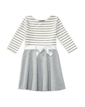 Ralph Lauren Childrenswear Girls' Striped & Solid Dress - Big Kid thumbnail